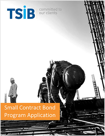TSIB Small Contract Bond Program Application Cover