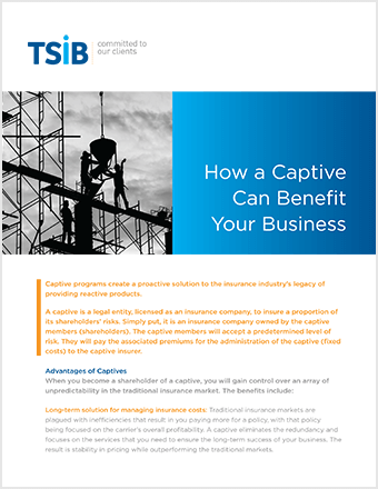 TSIB - Captive Benefits Sell Sheet