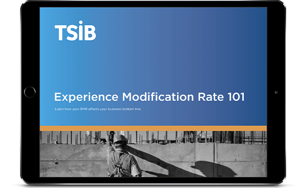 TSIB Experience Modification Rate 101 eBook on tablet