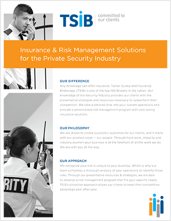 TSIB - Security Sell Sheet